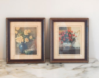 Vintage floral prints 7 inches high