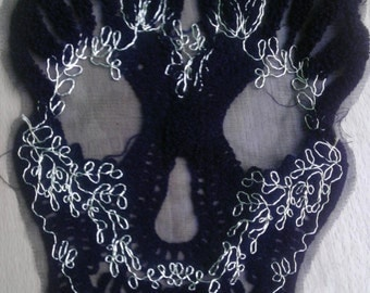 Skull Lace Appliques, Fancy Venice Lace, Polyester, For Gowns, Dresses, Fashion Projects, Altered Couture, Costume or Jewelry, Custom Orders