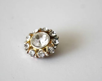 1 Piece Rhinestone Button Buckle For Fashion Projects Costumes Altered Couture Dresses And More
