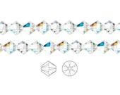 Swarovski Crystal Beads Crystal AB 5328 Xilion Bicone 3mm Package of 48