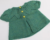 Green Leaves Baby Sweater.