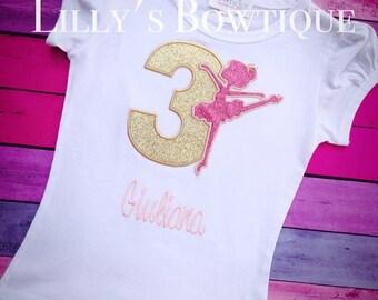 Pink and Gold Ballerina Birthday shirt, Personalized Birthday shirt, Birthday shirt,Ballerina Birthday Shirt