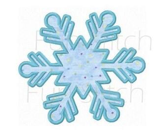 Snowflake applique machine embroidery design