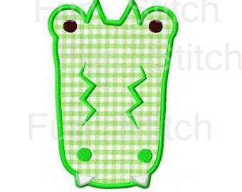alligator applique machine embroidery design instant download