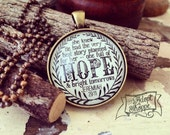 she knew He had the very best story planned for her -- one full of HOPE & bright tomorrows (Jeremiah 29:11) necklace