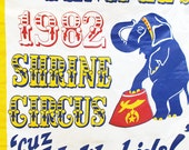Shriners Circus Banner with Blue Elephant - We Like Kids!