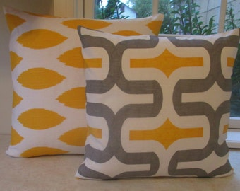 New SALE Two 18 x 18 Pillow Covers Premier Prints Embrace and Chipper Pillow Cover