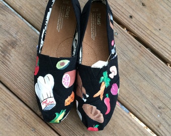 Chef Custom Toms Shoes for Foodies and Chefs