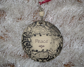 Handmade Ceramic Ornament - Peace