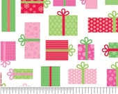 Christmas Candy White Presents by Doodlebug Designs Inc for Riley Blake, 1/2 yard