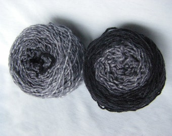 Sock Gradient - Superwash Merino Nylon Sport weight - Penelope Sport - Grayscale
