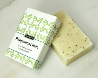 Peppermint Rain All Vegetable Oil Soap