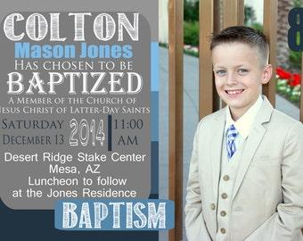 Customized Boy Baptism Invitation