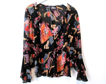 90's Floral Cropped blouse size - S