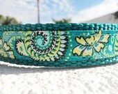 """Small Dog Collar 3/4"""" width collar Natures Circles in side release buckle OR Martingale style collar"""