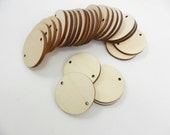"25 Unfinished 1 1/4"" Wood Disc for Birthday Boards Earrings Pendant 1 1/4"" x 1/8"" Wood Circle Disk Disc Cutouts"