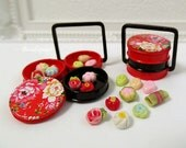 Dollhouse Miniature Food, Japanese Kyoto candy inspired Pastry Sweets, Party High-Tea fake food for 1:12 Scale & Sylvanian Families