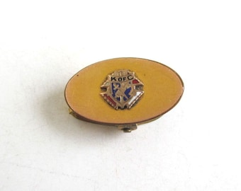 K of C, Knights of Columbus Clip - Vintage Gold, Small