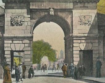 BISHOP GATE Londonderry Northern Ireland 1905 cancel Antique postcard