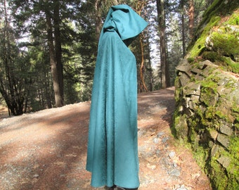 Medieval Renaissance Cosplay LARP Half Circle Cloak with Hood and Liripipe
