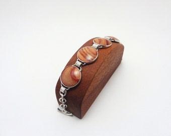 Sterling Silver / Tulipwood Bracelet