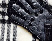 Black Gloves Scarf Vintage set Unused from the 80s