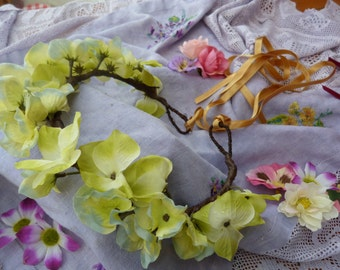 Lemon and lime flower fairy crown