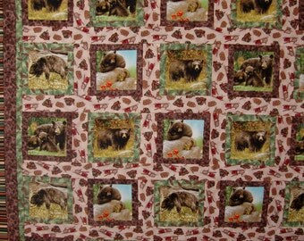 Quilt Handmade Northern Territory Wildlife Handmade Quilt One of a kind Cabin, Lodge Bedding Sale Priced