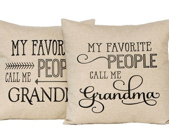 Mother's Day Gift, Personalized Grandparent Gift, Grandmother Gift, Grandpa Gift, Grandma Gift, Mothers Day Gift, Throw Pillow Cover