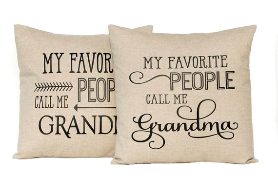 Personalized Grandparent Gift, Grandparent Christmas Gift, Fathers Day Gift, Grandpa Gift, Grandma Gift, Custom Pillow, Throw Pillow Cover