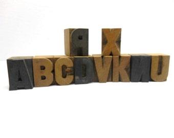 Vintage  Wood  Printer Blocks