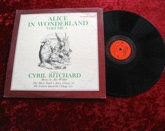 Alice In Wonderland VINYL lp record Volume 5 RIVERSIDE Turtle Lobster NM-