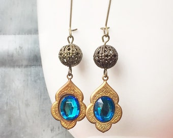 Moroccan Earrings - Bollywood Accessory - Boho Jewelry - Dangle Earrings - Long Earrings - Gypsy Earrings - Drop Earrings - Gift For Her