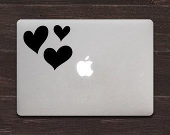 Hearts Vinyl MacBook Decal BAS-0159
