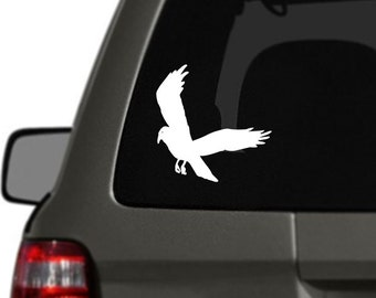 Crow Bird Vinyl Car Decal BAS-0232