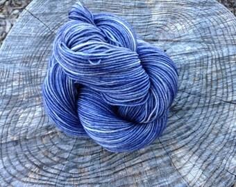 Winter Night Blue Half Pint Sock 75/25% Superwash Merino Nylon Blend Hand Dyed Sock Yarn 50gr