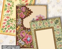 Digital Printable Cards Gift Tags Hang Tags Jewelry Holders ACEO Size Stationery Instant Downloads 12 Cards  Vintage Ornate  -- ACEO 32
