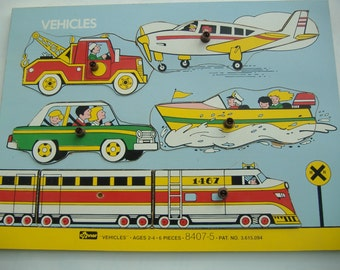 """Wooden Particle Board """"Vehicle"""" Puzzle by Connor"""