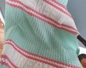 Personalized Crochet Baby Blanket, Crochet Baby Blanket, Personalized Afghan, Baby Girl Blanket, Baby Boy Blanket, Stroller Blanket,