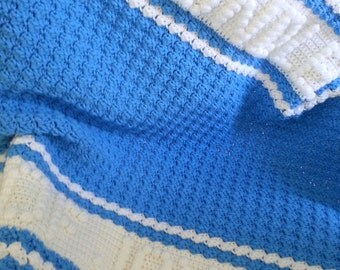 Personalized Baby Blanket Crochet Baby Blanket Personalized Baby Afghan Baby Girl Blanket Baby Boy Blanket Stroller Blanket