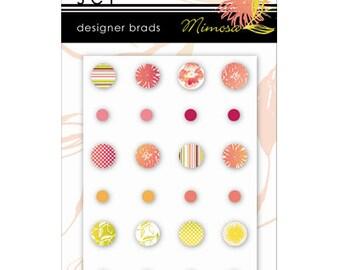 Mimosa Designer Epoxy Brads by SEI