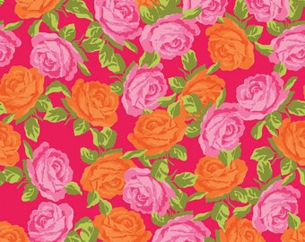 Olivia Roses in Pink by Penny Rose Fabrics - Half Yard