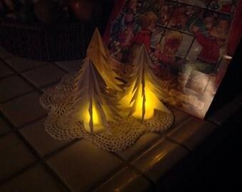 Luminary Origami Trees Three Included