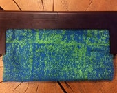 Wood frame evening clutch/vintage iridescence