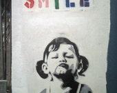 Banksy Print  - Smile  - Multiple Paper Sizes