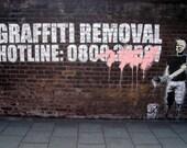 Banksy Print  - Graffiti Removal Hotline  - Multiple Paper Sizes