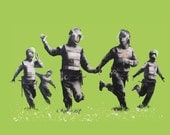 Banksy Poster Print  - Riot Coppers - Multiple Paper Sizes