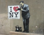 Banksy Canvas (READY TO HANG) - I Heart New York - Multiple Canvas Sizes