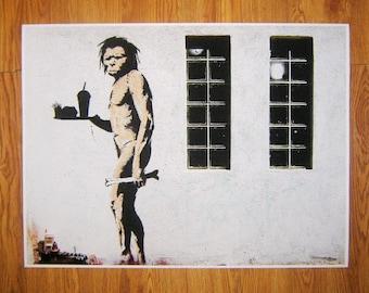 Banksy Print  - Ape Man McDonalds - Multiple Paper Sizes