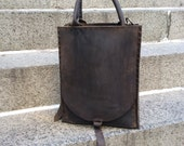 Sheffield Tote, handmade leather bag, handcrafted laptop tote, brown leather shopper, handmade bags and totes by Aixa Sobin, maker